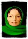 Cartoon: Negar Javaherian (small) by Ali Miraee tagged caricature,portrait,iran,actor,cinema,ali,miraee,miraie,mirayi