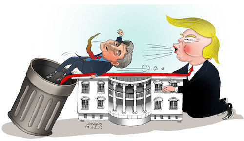 Cartoon: BANNON OUT AT WHITE HOUSE ! (medium) by Shahid Atiq tagged trump,afghanistan,safi,shahid,bahar,ieba,rayian,musa,kart,crni,berlin