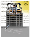 Cartoon: Free Turkey Media ! (small) by Shahid Atiq tagged jounalism,is,not,crime