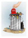 Cartoon: Game Over ! (small) by Shahid Atiq tagged usa
