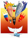 Cartoon: Protect The World ! (small) by Shahid Atiq tagged trump,afghanistan,safi,shahid,bahar,ieba,rayian,isi,pakistan,kabul