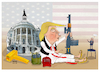 Cartoon: The error of  Trumpism is ending (small) by Shahid Atiq tagged usa