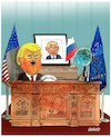 Cartoon: Trump and new game ! (small) by Shahid Atiq tagged trump,afghanistan,safi,shahid,bahar,ieba,rayian,isi,pakistan,kabul