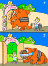 Cartoon: how to enter the future (small) by gonopolsky tagged future,mutual,aid