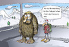 Cartoon: In search of Yeti (small) by llobet tagged yeti jeti meeting search