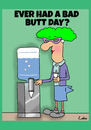 Cartoon: Bad Butt Day (small) by The Nuttaz tagged secretary,funny,cartoon,for,the,office,of,worker,humour,work,water,cooler,bad,hair,day,workplace,ageing,well,getting,old,grandma,weight,watchers,slimming,big,bum,diet,humor