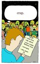 Cartoon: the to do list (small) by sardonic salad tagged to,do,list,zombies
