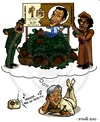 Cartoon: Lauter falsche Fuffziger (small) by stewie tagged hussein gaddafi haider million euro money geld