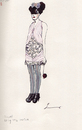 Cartoon: Chanel Spring 2010 Couture (small) by lavi tagged fashion,illustration,illu,chanel,clothing,pink,style,ink,hand,spring,couture