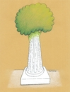 Cartoon: Column (small) by ercan baysal tagged column,antigue,marble,tree,living,handmade,fine,fineart,vision,good,job,picture,image,art,absurd,histoir,journey,tour,travel,ancient,old,ercanbaysal,turkey,turkiye,cartoon,illustration