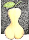 Cartoon: Woman (small) by ercan baysal tagged pear,nude,woman,sex,humour,fun,frau,whore,art,joke,good,fine,fineart,beauty,vision,dream,daydream,fantasy,paint,draw,pencil,picture,artwork,work,handmade,love,logo,sexual,sexuality,black,lingerie,erotic,buttocks,thigh,folio,amour,ercanbaysal,illustration