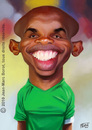 Cartoon: Samuel Etoo (small) by jmborot tagged inter,etoo,cameroon,caricature,football,jmborot