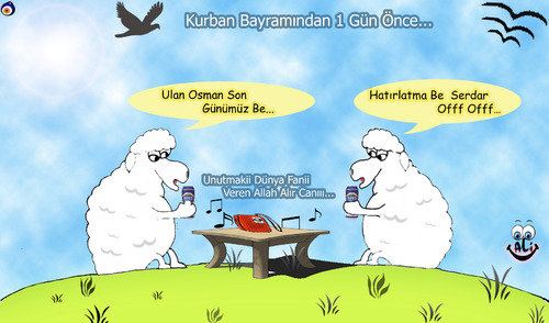 Cartoon: dertli koyunlar (medium) by aliylmz tagged koyunlar