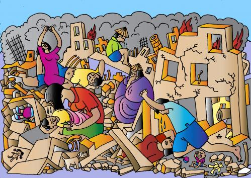 Earthquake Pictures Cartoon Cartoon Earthquake Damage