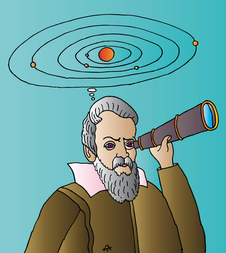 Cartoon: Galileo (medium) by Alexei Talimonov tagged galileo