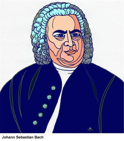 Cartoon: Johann Sebastian Bach (medium) by Alexei Talimonov tagged composer,musician,music,johann,sebastian,bach