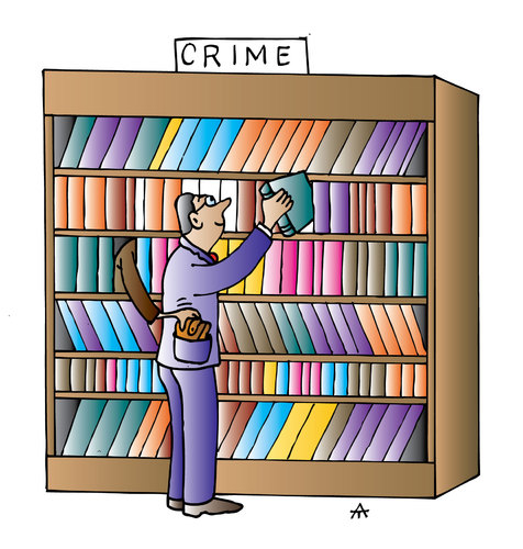 Cartoon: Library (medium) by Alexei Talimonov tagged library,books,literature,crime