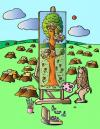 Cartoon: Manky Risyet Derevo (small) by Alexei Talimonov tagged monkey,trees,nature,painting,