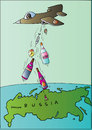 Cartoon: Russia (small) by Alexei Talimonov tagged vodka,alcohol,drinking,russia