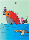 Cartoon: Shipwreck (small) by Alexei Talimonov tagged literature,books