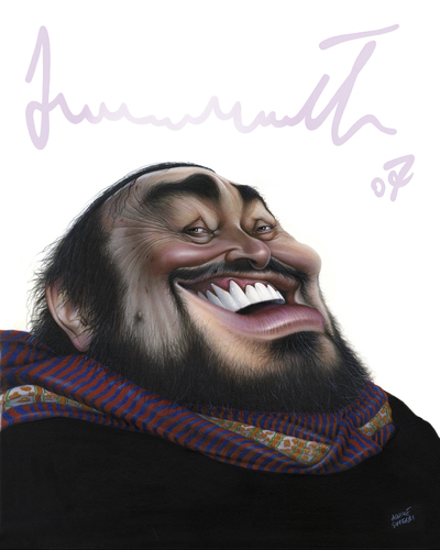 Cartoon: Luciano Pavarotti (medium) by achille tagged luciano,pavarotti