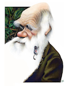 Cartoon: Charles Darwin (small) by achille tagged charles darwin