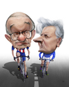 Cartoon: Greenspan e Trichet (small) by achille tagged greenspan,trichet