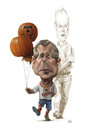 Cartoon: Halloween Double Bush (small) by achille tagged bush,halloween,pumkin