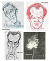 Cartoon: 4 Faces 2 (small) by Cartoons and Illustrations by Jim McDermott tagged actors movies tv