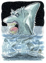 Cartoon: Sharkthing (small) by Cartoons and Illustrations by Jim McDermott tagged shark,cartoon,ocean,monster