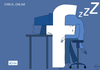 Cartoon: facebook status online (small) by sebtahu4 tagged zuckerbook facebook cartoon mark zuckerberg cartoons