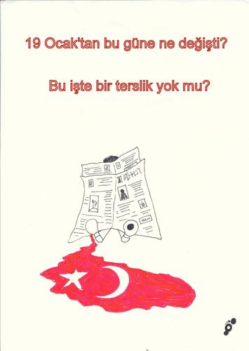 Cartoon: to Hrant Dink (medium) by adimizi tagged cizgi