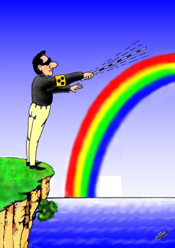 Cartoon: RAINBOW (medium) by ugur demir tagged mm