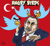 Cartoon: Angry birds Turkey (small) by jean gouders cartoons tagged erdogan,turkey,twitter