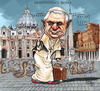 Cartoon: Leaving the snake pit. (small) by jean gouders cartoons tagged pope,vatican,benedictus,xvi