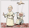 Cartoon: The hand of God? (small) by jean gouders cartoons tagged pope,francis,benidict,xvi,vatican,celibate