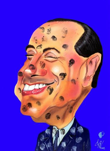 Cartoon: berlusconi (medium) by criv tagged 22,09,2008