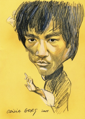 Cartoon: Bruce Lee (medium) by Otilia Bors tagged lee,bruce