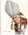 Cartoon: Pope John Paul II (small) by Otilia Bors tagged pope,john,paul,ll