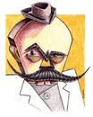 Cartoon: Caragiale (small) by lloyy tagged journalist,caricature,caricatura,famous