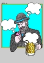 Cartoon: Bohemian Clouds (small) by srba tagged beer oktoberfest bohemian clouds