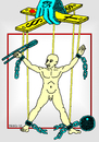 Cartoon: Freedom (small) by srba tagged man,freedom,liberation,chains,ball,puppet