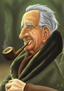 Cartoon: Tolkien Caricature (small) by ateh tagged tolkien,caricature