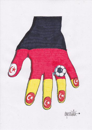 Cartoon: almanyadaki türk futbolcular (medium) by coskungole58 tagged fut,bol