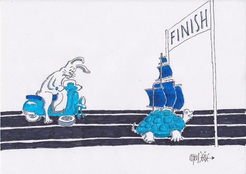 Cartoon: finish (medium) by coskungole58 tagged fi,nish