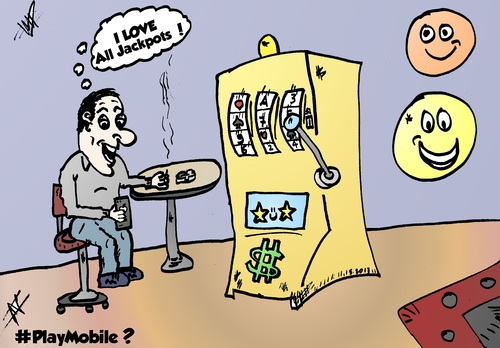 Cartoon: Consistent online pokies winner (medium) by aceart tagged slots,pokies,pokie,win,mobile,ipad,android,cartoon,tutorial,expert,gaming,advice,tip,tips,alljackpots,jackpot,comic,webcomic,player,play