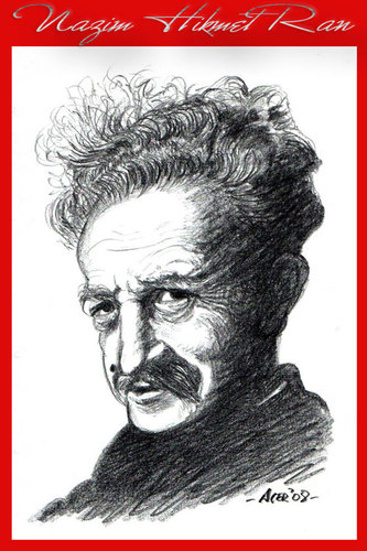 Cartoon: nazim hikmet (medium) by aceratur tagged nazim,hikmet
