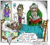 Cartoon: to be on one s deathbed (small) by aceratur tagged to,be,on,one,deathbed