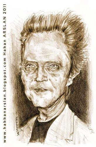 Cartoon: Christopher WALKEN (medium) by hakanarslan tagged christopherwalken,hakanarslan