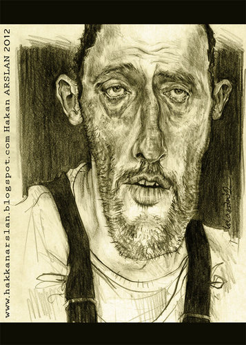 Cartoon: Jean RENO (medium) by hakanarslan tagged jeanreno,leon,hakanarslan